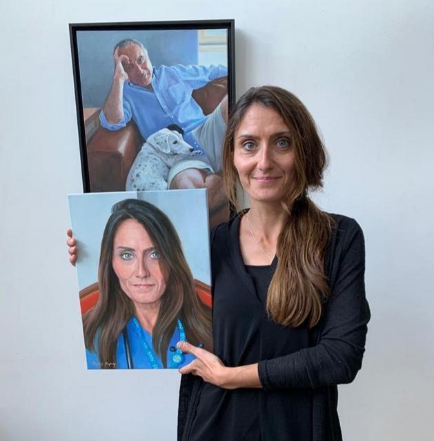 Proud Recipient of her Portrait